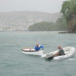 Rowing in 40 knots of wind ... Island Kea came to Hanna's rescue