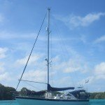At anchor in Isla Sur