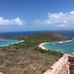 View from the top of the old Culebrita lighthouse