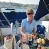 Dinner on board in St Mawes