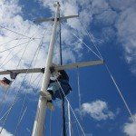 Chris up the mast 002