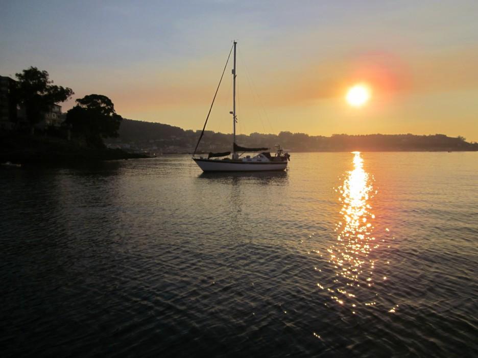 Sunset off Loureira