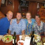 Supper on board Swallow