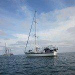 Ocean Rainbow at anchor in Santa Maria