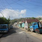 Main street of Anse La Raye