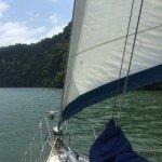 Sailing down the Rio Dulce